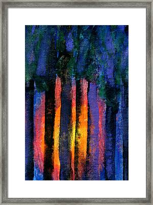 Glowing Wood Framed Print by R Kyllo