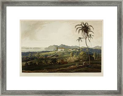 Glugor House And Spice Plantations Framed Print by British Library