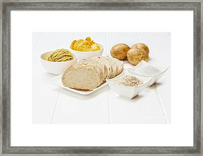 Glycemic Index High Gi Foods Framed Print by Colin and Linda McKie