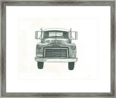 Gmc Truck Framed Print by Jennifer Slouha