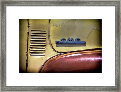 Gmc Truck Framed Print by Ken Smith