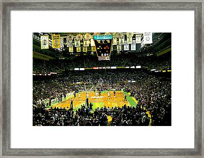 Go Celtics Framed Print by David Schneider