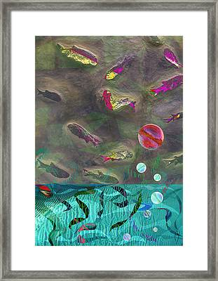 Go Fish Framed Print by Maria Jesus Hernandez