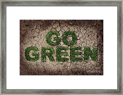 Go Green Framed Print by Jelena Jovanovic