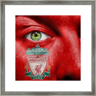 Go Liverpool Fc Framed Print by Semmick Photo