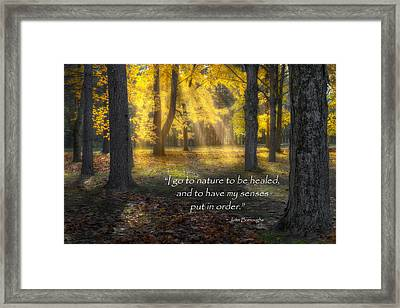 Go To Nature Framed Print by Bill Wakeley