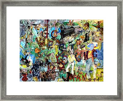 Go West Young Man  The Birth Of The Usa Framed Print by Barb Greene mann