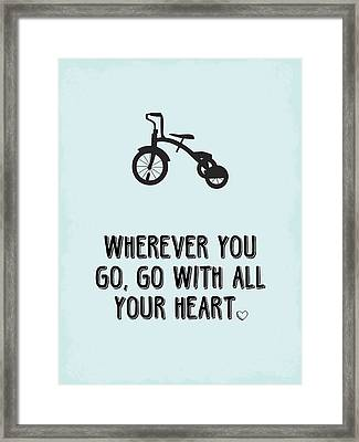 Go With All Your Heart Framed Print by Nancy Ingersoll