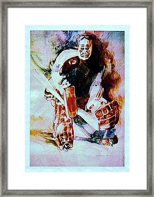 Goalie Framed Print by Dale Michels