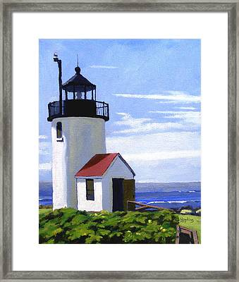 Goat Island Lighthouse Maine Framed Print by Christine Hopkins