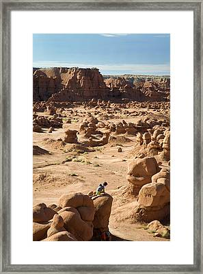Goblin Valley State Park Framed Print by Jim West