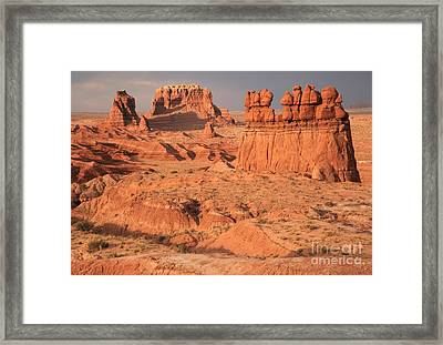 Goblins Towers And Buttes Framed Print by Adam Jewell