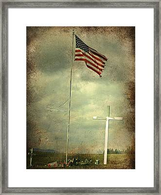 God And Country Framed Print by Doug Fredericks