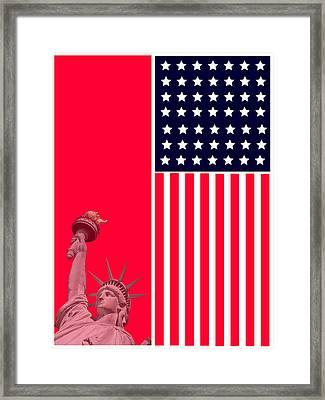 God Bless America Framed Print by Celestial Images