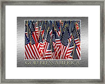 God Bless America Framed Print by Carolyn Marshall
