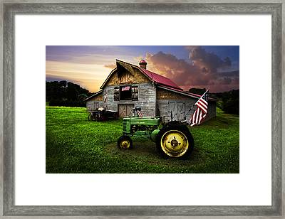 God Bless America Framed Print by Debra and Dave Vanderlaan