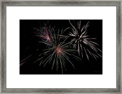 God Bless America Fireworks Framed Print by Christina Rollo