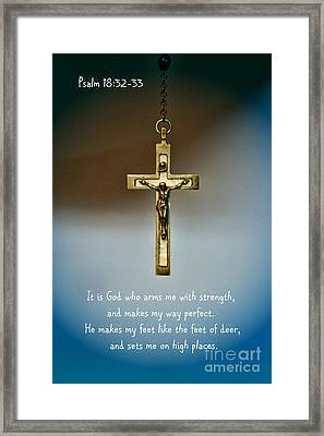 God Is Strength Framed Print by Paul Ward