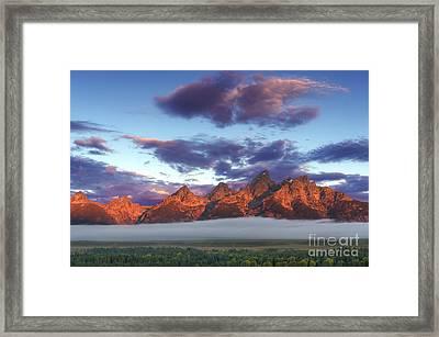 God Morning Tetons Framed Print by Marco Crupi