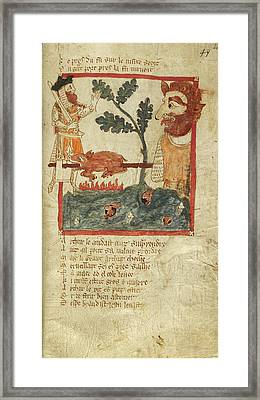 God Of Love As King In Tree Framed Print by British Library