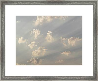 God Rays And Clouds, Okavango Delta Framed Print by Panoramic Images