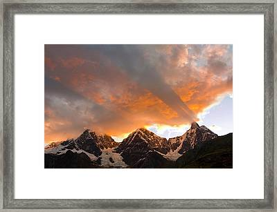 God Rays, Crepuscular Rays, Clouds Framed Print by Howie Garber