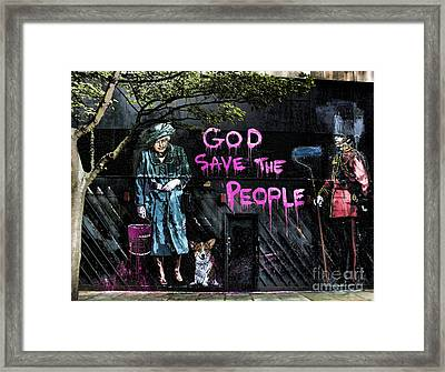 God Save The Queen Framed Print by Jasna Buncic