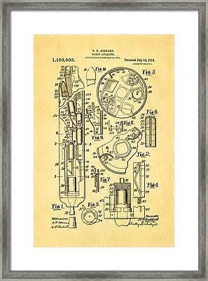 Goddard Rocket Patent Art 1914 Framed Print by Ian Monk