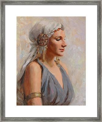 Goddess Framed Print by Anna Rose Bain