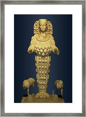 Goddess Artemis From Ephesus Framed Print by David Parker