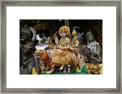 Goddess Durga Framed Print by Gregory Smith