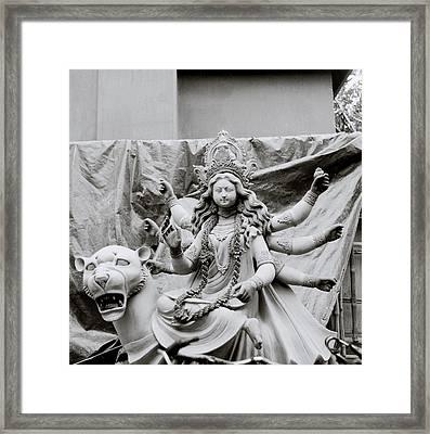 Goddess Durga Framed Print by Shaun Higson