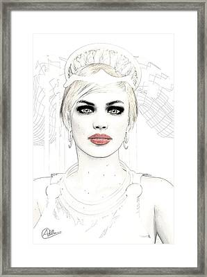 Goddess Hera Framed Print by Quim Abella