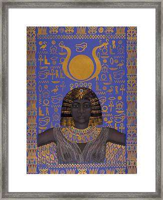 Goddess Isis Framed Print by Diana Perfect