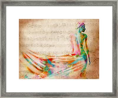 Goddess Of Music Framed Print by Nikki Smith