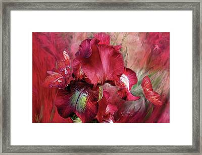 Goddess Of Passion Framed Print by Carol Cavalaris