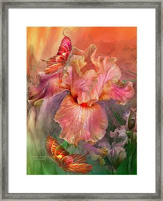 Goddess Of Spring Framed Print by Carol Cavalaris