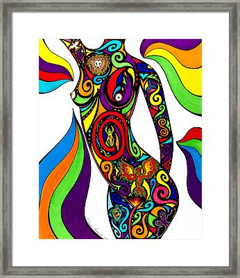 Goddess Framed Print by Tracey Rogers