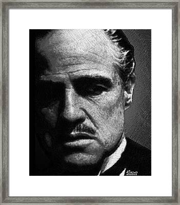 Godfather Marlon Brando Framed Print by Tony Rubino