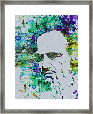 Godfather Watercolor Framed Print by Naxart Studio