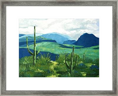 Gods Country Framed Print by Anthony Falbo
