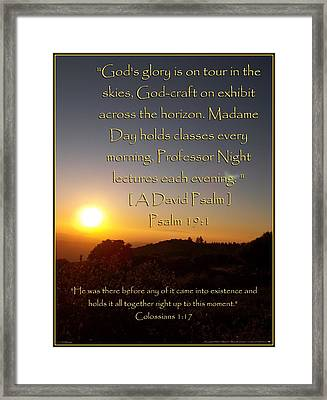 God's Craft Framed Print by Glenn McCarthy Art and Photography