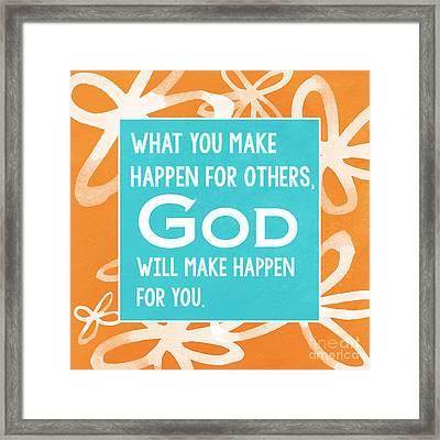 God's Gift Framed Print by Linda Woods