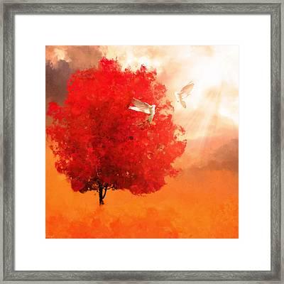 God's Love Framed Print by Lourry Legarde