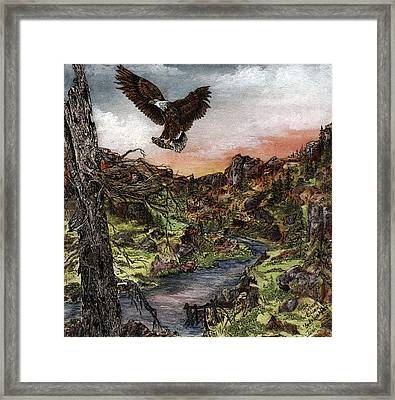 God's Love Notes Hide And Seek Framed Print by Meldra Driscoll