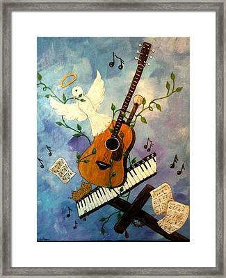 God's Music Framed Print by Suzanne Brabham