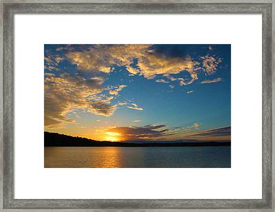 God's Paint Brush Framed Print by Lorna Rogers Photography