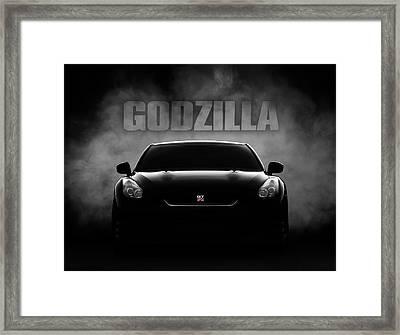 Godzilla Framed Print by Douglas Pittman