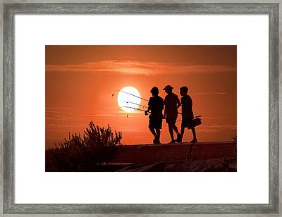 Going Fishing Framed Print by Randall Nyhof
