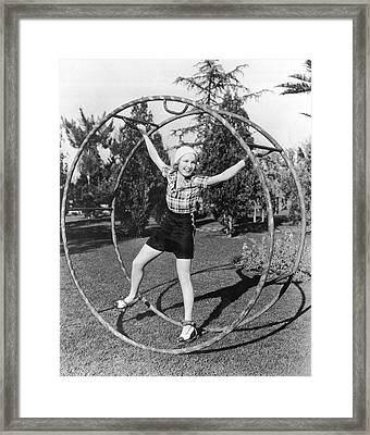 Going For A Spin Framed Print by Underwood Archives